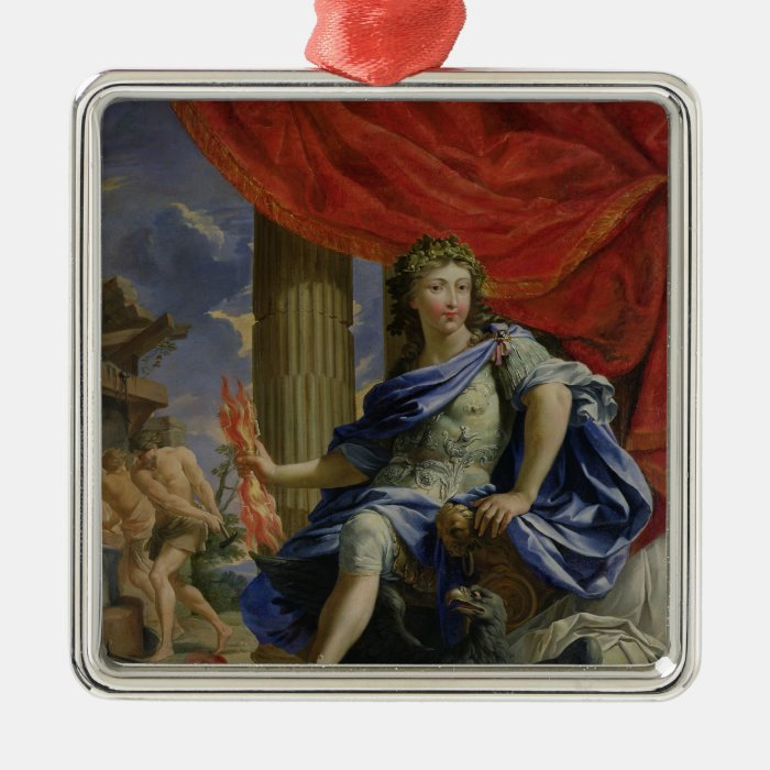 Louis XIV  as Jupiter Conquering the Fronde Metal Ornament