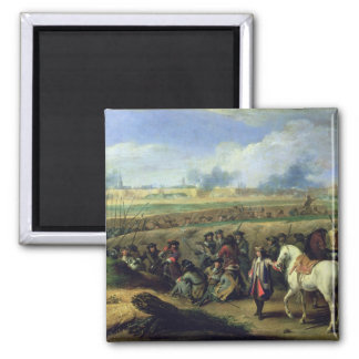 Louis XIV  at the Siege of Tournai Magnet