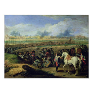 Louis XIV  at the Siege of Tournai Poster