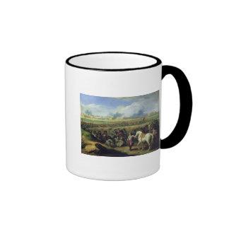 Louis XIV  at the Siege of Tournai Ringer Mug