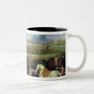 Louis XIV  at the Siege of Tournai Two-Tone Coffee Mug
