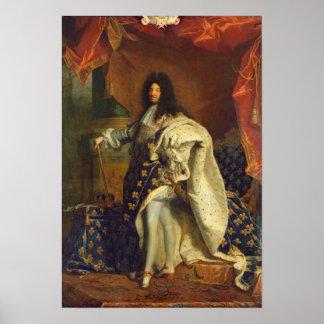Louis XIV en traje real 1701 Impresiones