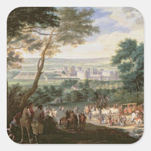 Louis XIV en Vincennes Calcomanía Cuadradas Personalizada