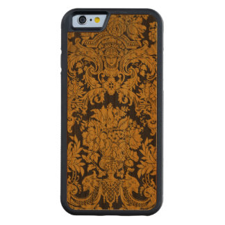 Louis XIV Golden Damask Carved Cherry iPhone 6 Bumper Case