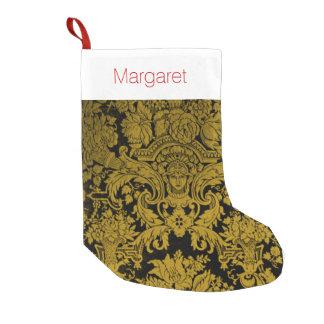 Louis XIV Golden Damask Small Christmas Stocking