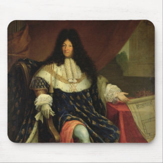 Louis XIV  Holding a Plan of the Maison Royale Mouse Pad