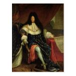 Louis XIV  Holding a Plan of the Maison Royale Postcard