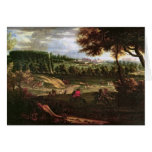Louis XIV  Hunting at Marly with a View Card