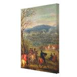 Louis XIV  in Battle near Mount Cassel Gallery Wrapped Canvas