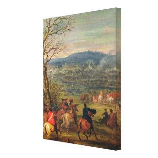 Louis XIV  in Battle near Mount Cassel Canvas Print