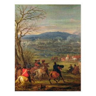 Louis XIV  in Battle near Mount Cassel Postcard