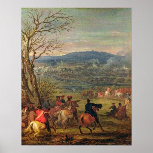 Louis XIV  in Battle near Mount Cassel Posters