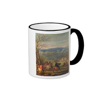 Louis XIV  in Battle near Mount Cassel Ringer Mug