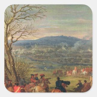 Louis XIV  in Battle near Mount Cassel Square Sticker