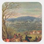 Louis XIV  in Battle near Mount Cassel Square Stickers