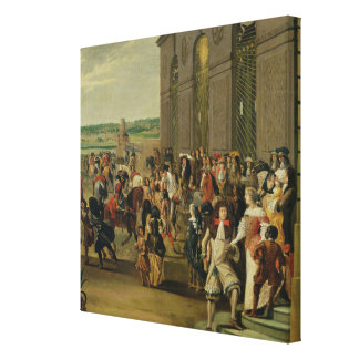Louis XIV  in Front of the Grotto of Thetis Canvas Print
