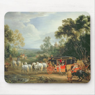 Louis XIV  in his state coach Mouse Pad