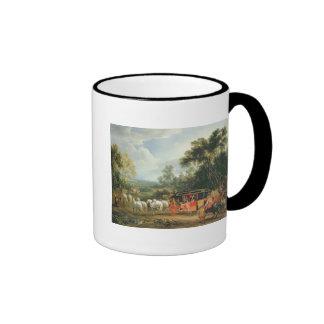 Louis XIV  in his state coach Ringer Mug