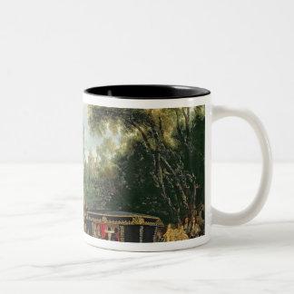Louis XIV  in his state coach Two-Tone Coffee Mug