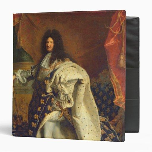 Louis XIV in Royal Costume, 1701 3 Ring Binder