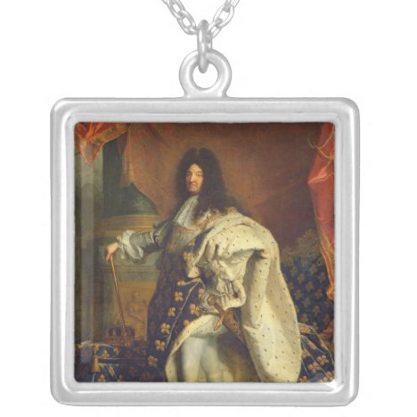 Louis XIV in Royal Costume, 1701 Silver Plated Necklace
