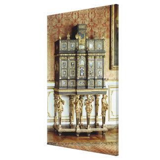 Louis XIV jewellery cabinet, Gobelins Workshop Gallery Wrap Canvas
