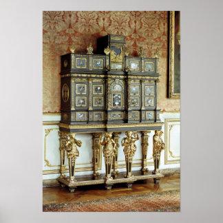 Louis XIV jewellery cabinet, Gobelins Workshop Poster