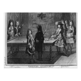 Louis XIV playing billiards with his brother Postcard