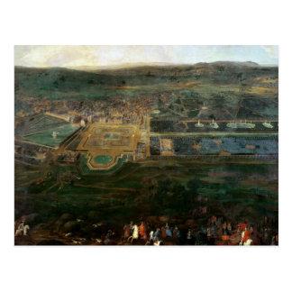 Louis XIV que caza cerca del castillo francés de F Tarjeta Postal