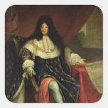 Louis XIV que lleva a cabo un plan del Maison Calcomania Cuadradas