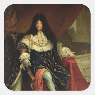 Louis XIV que lleva a cabo un plan del Maison Pegatina Cuadrada