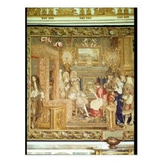 Louis XIV que recibe al legado papal Postales