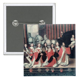 Louis XIV received by the sheriffs in Toulouse 2 Inch Square Button