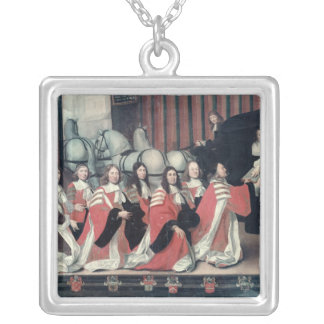 Louis XIV received by the sheriffs in Toulouse Square Pendant Necklace