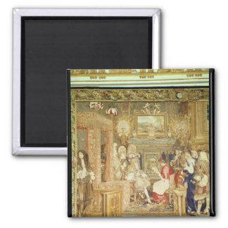 Louis XIV  receiving the Papal Legate Magnet