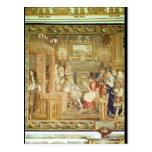 Louis XIV  receiving the Papal Legate Postcard