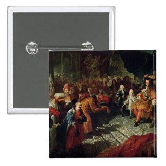 Louis XIV  receiving the Persian Ambassador 2 Inch Square Button