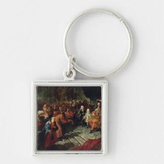 Louis XIV  receiving the Persian Ambassador Keychain