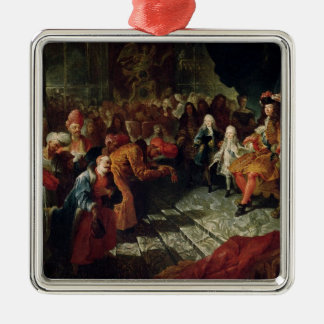 Louis XIV  receiving the Persian Ambassador Metal Ornament