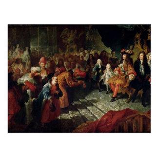 Louis XIV  receiving the Persian Ambassador Postcard