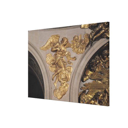 Louis XIV style angel, from the arch Stretched Canvas Prints
