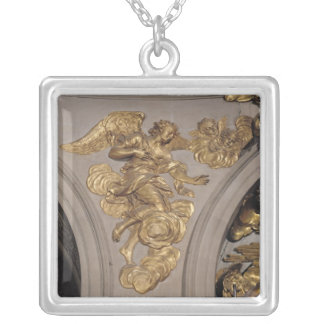 Louis XIV style angel, from the arch Silver Plated Necklace