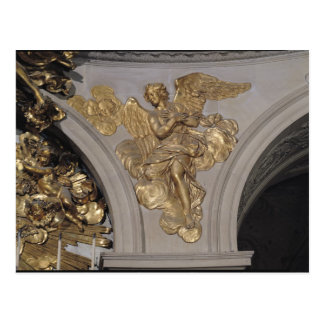 Louis XIV style angel, from the arch to the Postcard