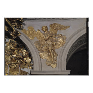Louis XIV style angel, from the arch to the Poster