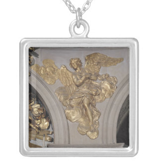 Louis XIV style angel, from the arch to the Silver Plated Necklace