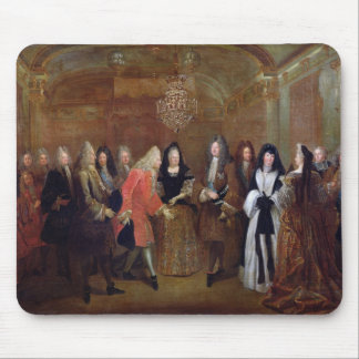 Louis XIV  welcomes the Elector of Saxony Mouse Pad