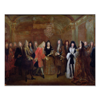 Louis XIV  welcomes the Elector of Saxony Poster