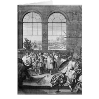 Louis XIV y el su visitar de la comitiva Tarjeta De Felicitación