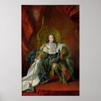 Louis XV  1723 Poster