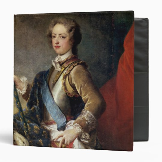 Louis XV  aged 15, after 1725 3 Ring Binder